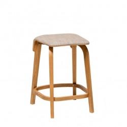 Krzesło barowe LEAF wysokie lub niskie tapicerowane