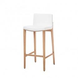 Krzesło barowe MORITZ tapicerowane