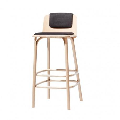 Krzesło barowe SPLIT tapicerowane wysokie lub niskie