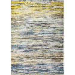 Żółto Niebieski Dywan w Paski BLUE YELLOW MIX